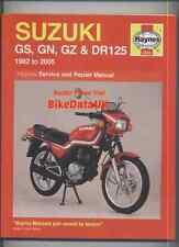 Suzuki GZ125 GN125 DR125S GS125ES (1982-2005) Haynes Manual GN GZ GS DR 125 >>>>