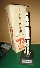 VTG APOLLO / SATURN V FIVE COUNTDOWN SPACE ROCKET DESKTOP MODEL in ORIG BOX RARE