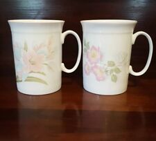2 Roy Kirkham Bone China Floral Pastel Coffee Tea Mugs England