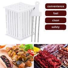 Plastic 36 Holes Skewers Food Barbecue Meat Vegetables Kabob Maker Box BBQ Tools