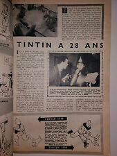 article anniverssaire TINTIN A 28 ANS 1930-1958 tintin n'est pas un SUPERMAN 3P