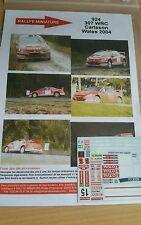 Decals 1/24  réf 924  Peugeot 307 wrc  Carlsson Wales 2004
