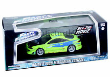 Greenlight 2001 Fast & Furious Brian's 1995 Mitsubishi Eclipse 1:43 Green 86203