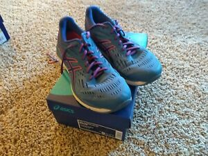 Asics Gel Cumulus 20 size 9.5 women running shoe Azure Blue Print FAST Ship