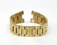 """Cabochon 18MM Stainless Steel Watch Strap Bracelet Band 7"""" GOLD for Papillon NEW"""