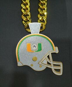 """2021 Miami Hurricanes Turnover Chain 5.0 """"Made to Order"""""""