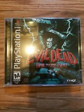 Original Authentic Ps1 Playstation Thq Game Evil Dead Hail To The King Ex