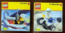 1999 Lego SHELL PROMO  Set 1248 Fire Boat 1249 Tri Moto New, sealed Please READ