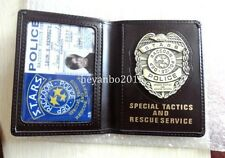 RESIDENT EVIL GAME LEATHER POLICE BADGE/ID WALLET HOLDER CASE