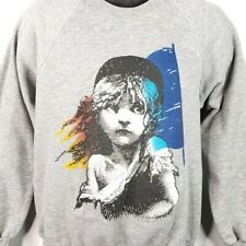 Les Miserables Sweatshirt Vintage 80s 1986 Broadway Musical Made In USA Large
