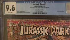 Jurassic Park #1 Amberchrome Gold Foil Variant Rare CGC 9.6 w Additional Insert