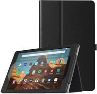 For Amazon Fire HD 10 (2019) Case Leather Folio Stand Tablet Cover (9th Gen)