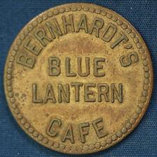 1938 BERNHARDT'S BLUE LANTERN CAFE Detroit GOOD FOR 25¢ IN TRADE Token TC-487556
