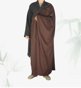 Shaolin Monk  Zen Buddhist Kesa Priest Robe Meditation Kung Fu Suit