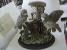 COUNTRY ARTISTS ORNAMENT TRAVELLERS REST LITTLE OWL PAIR MINT CONDITION by IVEY