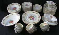"NORITAKE Occupied Japan ""Rose China"" RO9 Pattern 49 Pieces Bone China Dinnerware"