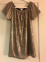 Women's Charming Charlie Sparkly Beige Dress, Size S, New with Tags