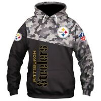 PITTSBURGH STEELERS Hoodie Hooded Pullover Football S-5XL 2019 NEW Design US