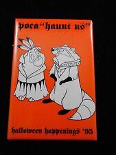 "Disney Poca ""Haunt Us"" Halloween Happenings 1995 Promo Pin Button RARE"