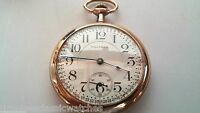 Waltham Pocket Watch, worn case/used, 16 S size 1909 Vintage runs Great Crescent