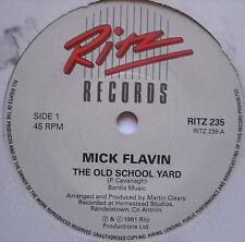 "MICK FLAVIN - The Old School Yard - Excellent Condition 7"" Single Ritz RITZ 235"