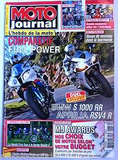 Moto Journal 7/01/2010; BMW S 1000 RR/ Aprilia RSV4 R/ HOnda Fury/ Harley Rocker