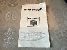 N64 GAMES CONSUMER INSTRUCTIONS MANUAL BOOKLET NINTENDO 64