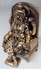 Antique Copper Finish Indian God Ganesh Elephant Statue Figurine Hindu Ornament