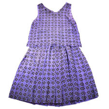 CHANEL 01P #40 CC Logos Sleeveless Setup Tops Skirt Purple Authentic NR12997d