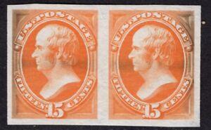 $US SC#152p3 Unused Pair GEM Plate Proof on India Paper, CV $60.00