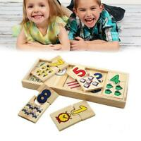 Number Colour Kids Toys Wooden Educational Jigsaws Puzzle Matching S6S7