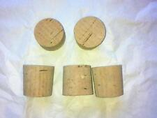 """5 off 1 Inch to 1 and 1/8"""" Cork Stoppers Bungs Corks Laboratory Test Tube"""