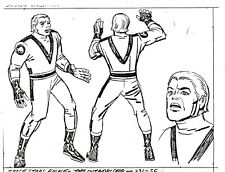 JACK KIRBY Space Stars 1980 THE OUTWORLDER Production COPY Model Sheet Concept