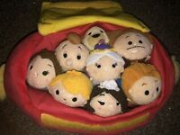 VGC Disney Store Exclusive Beauty & The Beast Tsum Tsum Collection In Case FAB