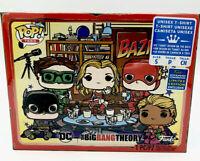 Big Bang Theory DC Superhero Bazinga Funko Pop Unisex Small T-Shirt New Sealed