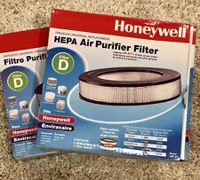 2X New Honeywell Filter D Hepa Air Purifier Filter & Gasket ~ Hrf-D1 ~ Open Box