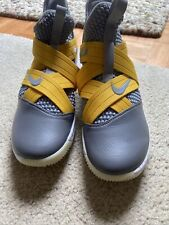 Lebron Soldier 12 Size 11 Grey And Yellow nike ar6333-991