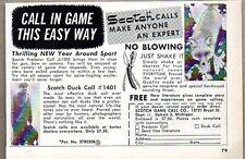 1960 Print Ad Scotch Game Calls for Ducks, Predators Detroit,MI