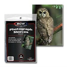 """Photo Holder Sleeves 5""""x7"""" 100 Count Pack [NEW] Case PIcture Cover Pic BCW"""