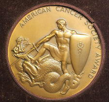 1962 American Cancer Society Distinguised Service Award Medal By Tiffany & Co NY