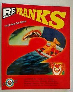 Re/Search Pranks Volume 2 SC/John Waters/Ron English/Lydia Lunch/Jello Biafra