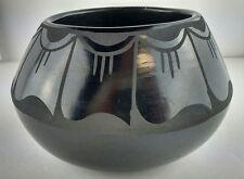 Native American Black on Black Pottery by Petra Gutierrez, Santa Clara