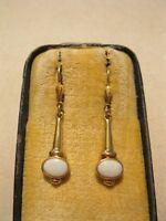 PAAR Ohrhänger Ohrringe GOLD 585 mit Opalbesatz Damenschmuck Vollopale ÄLTER
