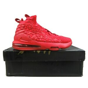 """Nike LeBron XVII """"Red Carpet"""" GS Size 4.5Y Basketball Shoes NEW BQ5594-600"""