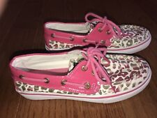 Sperry Top-Sider Boat Shoes Girls Size 2M Cheetah EUC