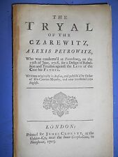 THE TRYAL OF THE CZAREWITZ - Alexis Petrowitz 1725 pamphlet book