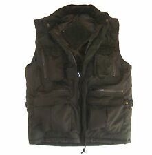 Mens Black Bodywarmer Gents XL Outdoor Country Jacket Padded Multi Pocket Coat