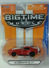 JADA BIGTIME MUSCLE '69 CORVETTE ZL-1 1:64 SCALE DIE CAST RED/WHITE