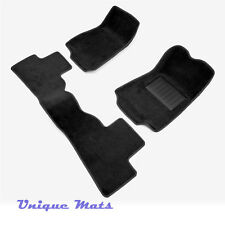 MOULDED 3D Car Floor Car Mats To suit FORD Falcon Wagon BA - BF Black
