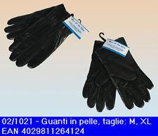 Guanti in pelle nera disponibili nelle taglie M e XL